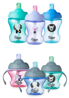 Tommee Tippee   Straw Cup   Age 6m & 7m  various colours   boys/girls   bpa free