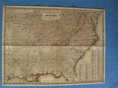 "Civil War Map -  ""Military Operations During War 1861 - 1865, ""The Lost Cause"""""