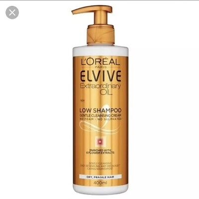 L'Oreal Elvive Extraordinary Oil Low Shampoo No Sulphates Gentle Cleanse 400 ml