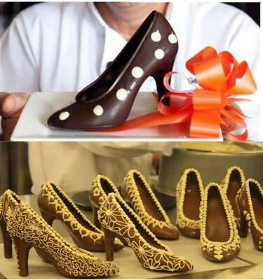 3D Mold High Heel Shoe Chocolate Candy Cake Decorating Mould Jelly Ice Soap