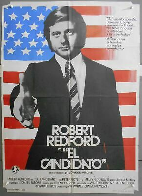 XN99 THE CANDIDATE ROBERT REDFORD PETER BOYLE orig 1sh SPANISH POSTER