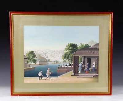Large Antique Chinese China Trade Gouache Occupational Painting - 2 Of 6