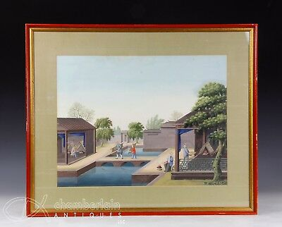 Large Antique Chinese China Trade Gouache Occupational Painting - 5 Of 6
