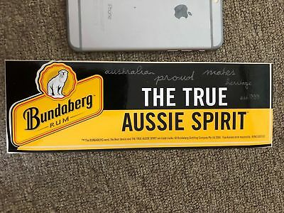 bundaberg rum sticker ( true Aussie spirit ) bundy 2004