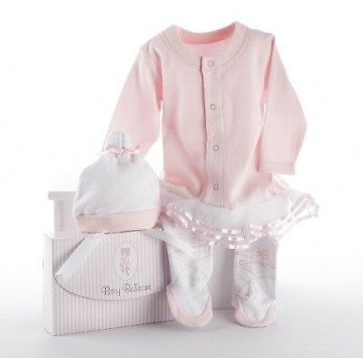 Baby Aspen Baby Ballerina Two-Piece Layette Set in Gift Box 0-6 Months Pink