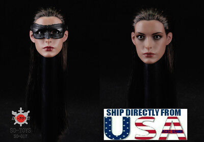 16 Anne Hathaway Head Sculpt Mask Catwoman For Hottoys