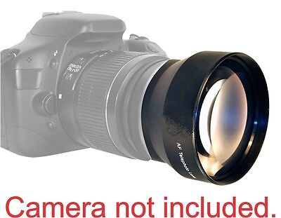 58MM 2x Telephoto Zoom Lens for Canon Rebel EOS T3 XT XTI XS XSI T6 300D 400D