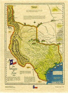 Map of Texas 1836  by Harvey Fletcher