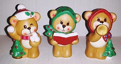 Set of Napcoware Christmas Mouse Figures Made In Japan