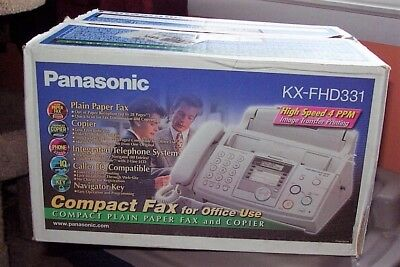 Panasonic KX-FHD331 Plain Paper Fax mMchine and Copier  with Caller ID Telephone