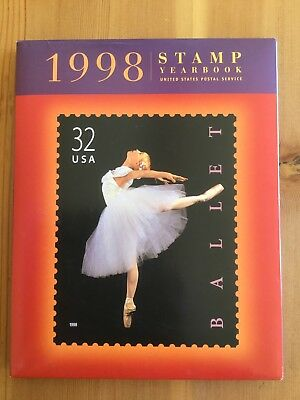 1998 USPS Commemorative Stamp Yearbook W/ MNH Stamps & Slipcover