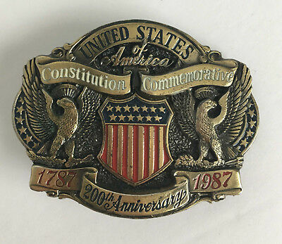 1987 US Constitution 200 Year Anniversary Limited Edition Belt Buckle Patriotic
