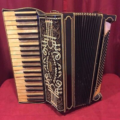 Vintage Pre-War Piano Accordion Tosi Music Co LMM 41/120 FOR PARTS OR REPAIR