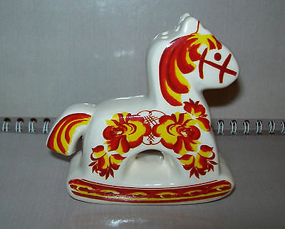Vintage USSR (for salt or pepper) Porcelain figurine  Horse rocking