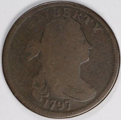 1797 1c Draped Bust S-135 Large Cent UNSLABBED