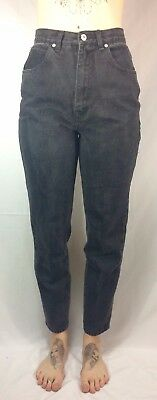 Vintage Black Washed REALLY High Waisted Jordache Women's Jeans | Waist : 26