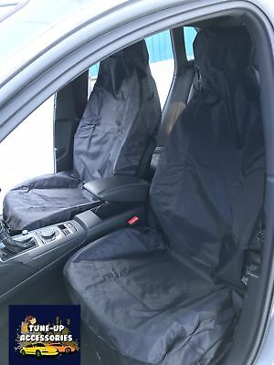 AUDI A2 ALL MODELS- H. Duty Black Waterproof Seat Covers/Protectors - 2 x Fronts