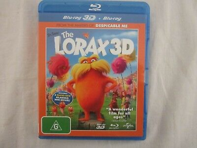 Dr. Seuss The Lorax 3d & normal Blu-ray discs like new