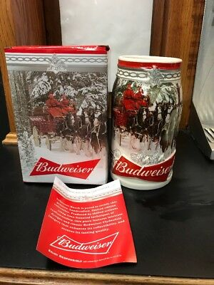 2017 Budweiser Holiday Stein Christmas Beer Mug   Newest Addition IN STOCK