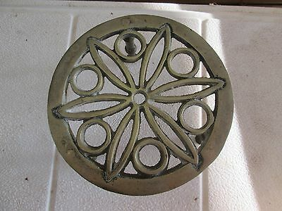 Vintage Brass Table Top Stand And Photo Holder