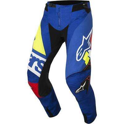 NEW Alpinestars 2018 Techstar Factory Blue/Red Pant from Moto Heaven