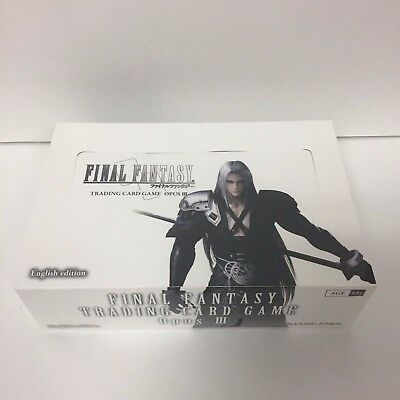 Final Fantasy Trading Card Game TCG Opus 3 III Booster Box NEW SEALED - ENGLISH