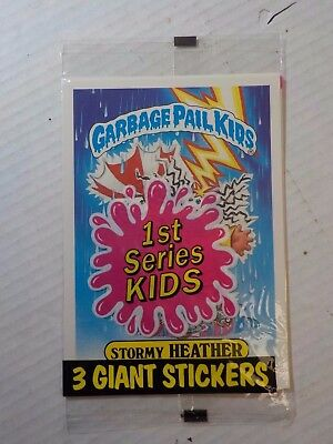Vintage 1986 Garbage Pail Kids 3 Giant Stickers card pack Sealed 1st series