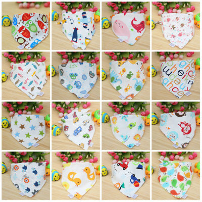 Baby Boy Girl Cotton Triangle Feeding Bibs Saliva Towel Smock Burp Clothes