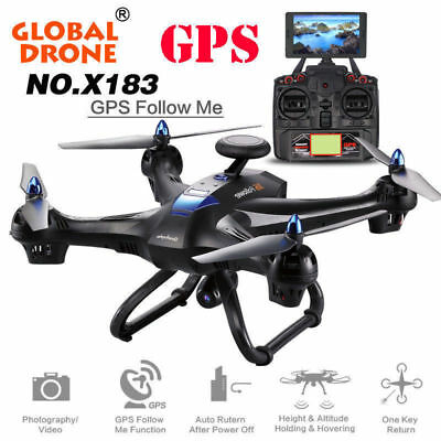 Global Drone X183 5.8GHz WiFi FPV 1080P Camera Dual-GPS Brushless UFO Quadcopter