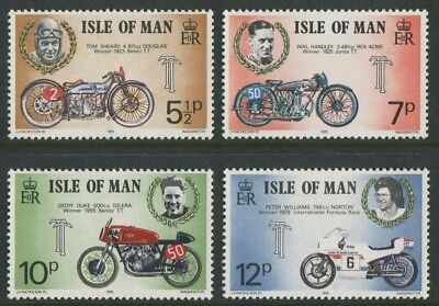 Tourist Trophy Motorcycle Races On Isle Of Man 1975 - Mnh Set Of Four (G78-Rr)
