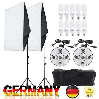 Fotostudio Studio Set Video Softbox Reflektor Stativ Dauerlicht Videolicht Kit