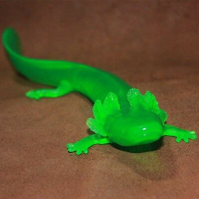 Retired Safari MUDPUPPY salamander PVC Figurine Figure RARE Neon color