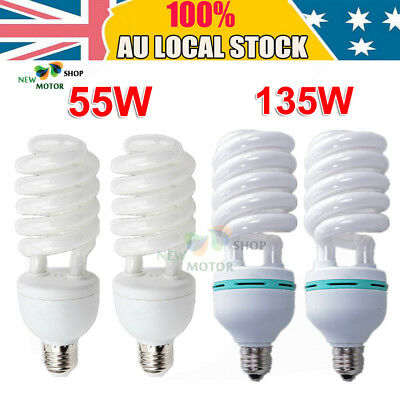 55W/135W Daylight Energy Saving Spiral Light Bulb Lamp Lighting Light E27 5500K