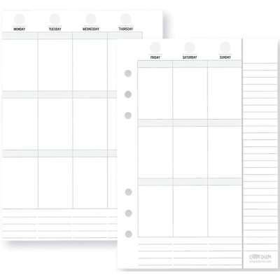 Planner Essentials Double-Sided Inserts A5 72/Pkg Weekly Vertical 812247029115