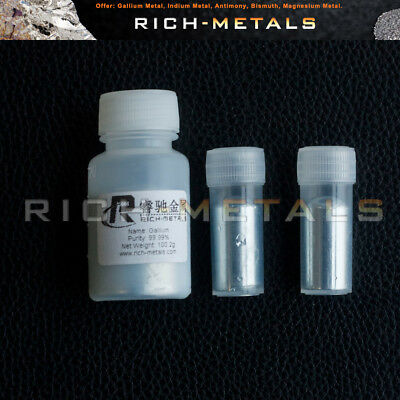 99.99% Pure Liquid Gallium Element 31 Melting Point 29.8 ℃  100grams