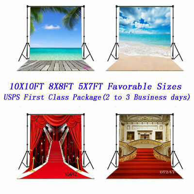 US Fast Ship 10X10FT 5X7FT Christmas Vinyl Backdrop Background Photography Props