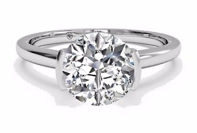 3.02 Ct Brilliant Cut Diamond Bridal Engagement Ring 14k Solid White Gold