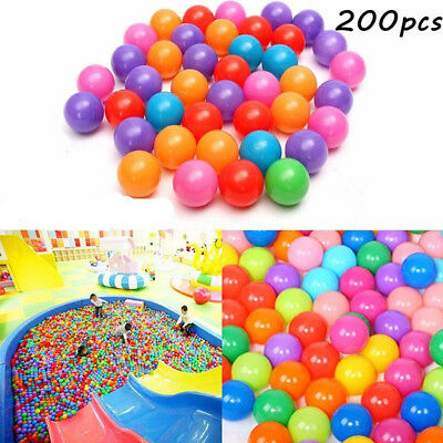 200X Soft Plastic Ocean Balls Baby Kids AUim Pool Play Pit Ball Toy 5.5cm AU