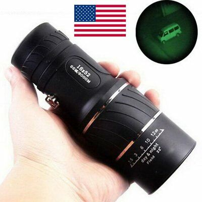 16x52 Night Vision HD Optical Monocular Hunting Camping Hiking Telescope USA