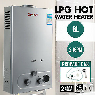 Propane 8L Gas LPG Tankless Instant Hot Water Heater Boiler New Year Gift