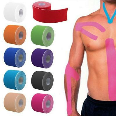 5CM x 5M ATHLETIC ELASTIC PHYSIO SPORTS KINESIOLOGY ROCK TAPE MUSCLE BANDAGE FW