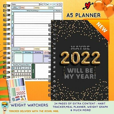 A5 food diary, slimming world compatible, diet, journal, weight loss, tracker 19