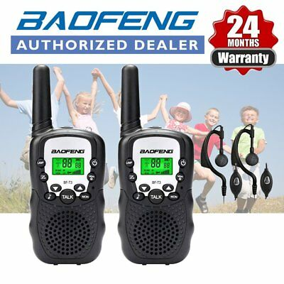 2x BAOFENG BF-T3 Walkie Talkie 2 Way radio PMR446 licence free Earpiece Black UK