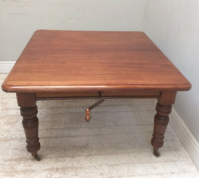 Victorian Mahogany Wind Out Dining Table - Wonderful Condition