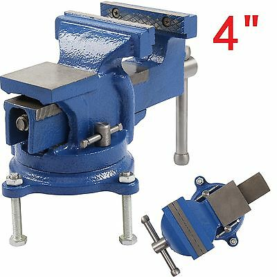 "4"" 100mm Jaw Bench Vice Workshop Clamp Work Bench Table Engineer Swivel Bench"