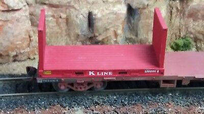 HO scale 20 foot heavy flatrack kits. Twin pack