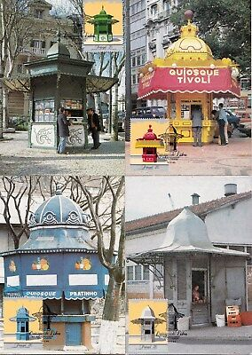 Portugal 1985 Kiosks - Post Mail Boxes Set of 4 Maximum Cards