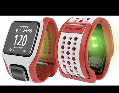 Brand New TomTom Runner Cardio GPS Watch & Graphical Training Partner- White/Red