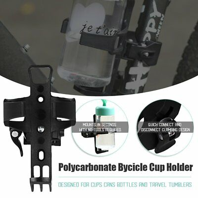 Cycling Bike Bicycle Drink Water Bottle Cup Holder Mount Cage Polycarbonate QT