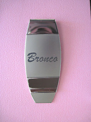 Ford  BRONCO script -  money clip ORIGINAL BOX